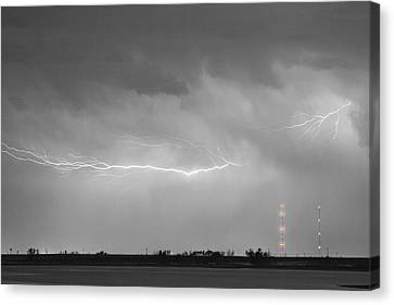 Lightning Bolting Across The Sky Bwsc Canvas Print by James BO  Insogna