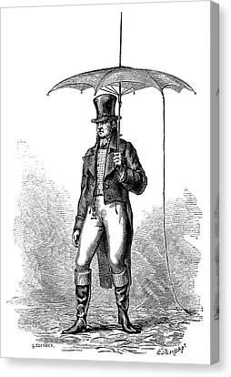 Lightning Conductor Umbrella Canvas Print