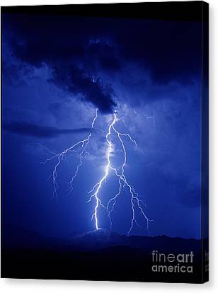 Lightning Canvas Print by K Kent