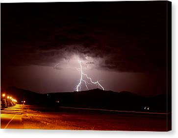 Lightning Mountain Canvas Print