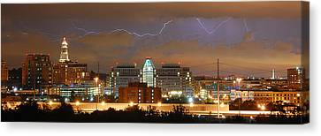 Lightning Over Alexandria Canvas Print by Michael Donahue