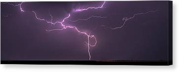 Canvas Print featuring the photograph Lightning by Rob Graham