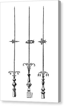 Lightning Rods Canvas Print by Science Photo Library