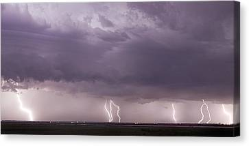 Canvas Print featuring the photograph Lightning Storm by Rob Graham