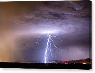 Lightning Decorations Canvas Print - Lightning Strikes Following The Rain  by James BO  Insogna