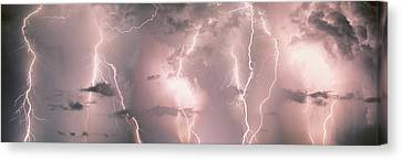 Lightning, Thunderstorm, Weather, Sky Canvas Print by Panoramic Images