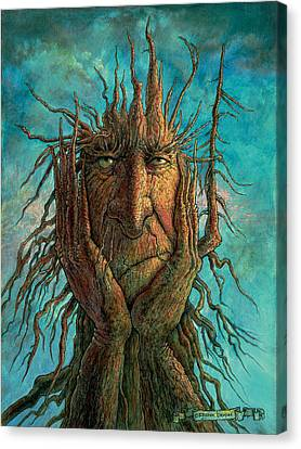Tree Creature Canvas Print - Lightninghead by Frank Robert Dixon
