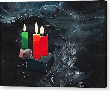 Lights Canvas Print by Anil Nene