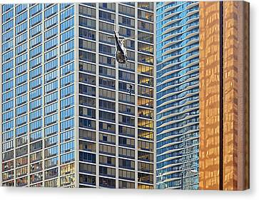 Lights - Camera - Action - Movie Backdrop Chicago Canvas Print by Christine Till