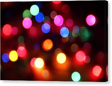 Canvas Print featuring the photograph Lights by Elizabeth Budd