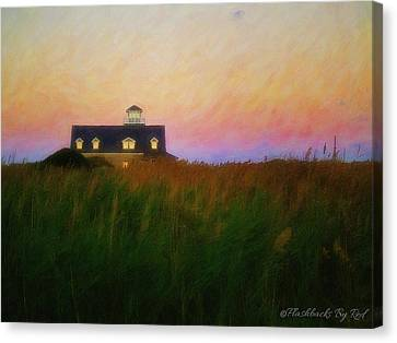 Lights In The Sea Oats Canvas Print