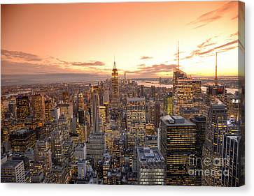 Lights In The Sunset Canvas Print