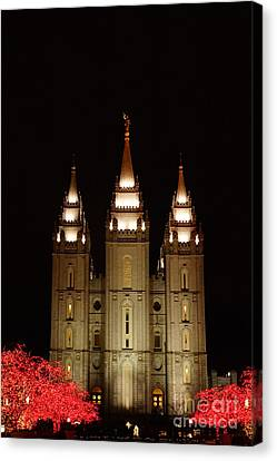 Lights In The Temple Canvas Print by Gloria Pasko