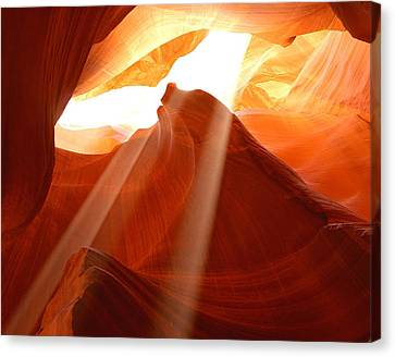 Lights Of Antelope Canyon 1 Canvas Print