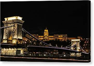 Lights Of Budapest Canvas Print
