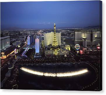 Lights Of Vegas Canvas Print by Mountain Dreams