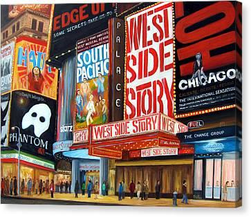 Lights On Broadway Canvas Print