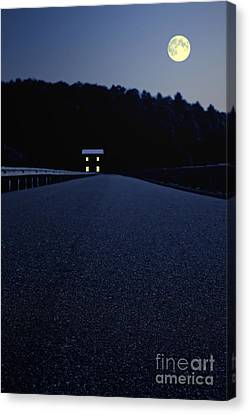 Lights On Up Ahead Canvas Print by Edward Fielding