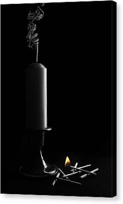 Candle Lit Canvas Print - Lights Out Still Life by Tom Mc Nemar