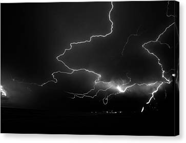 Lights Over The Gulf Canvas Print by David Lee Thompson