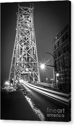 Canvas Print featuring the photograph Lightspeed Through The Lift Bridge by Mark David Zahn
