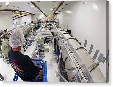Ligo Gravitational Wave Detector Laser Canvas Print by Caltech/mit/ligo Lab