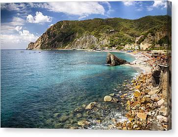 Liguria Coastline At Monterosso Al Mare Canvas Print by George Oze