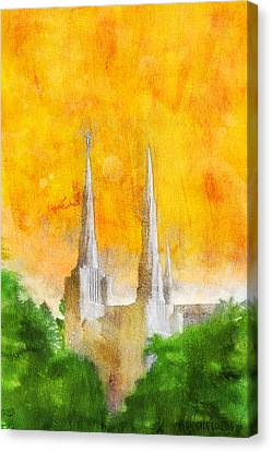 Canvas Print featuring the painting Like A Fire Is Burning by Greg Collins