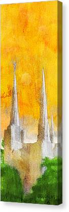 Canvas Print featuring the painting Like A Fire Is Burning - Panoramic by Greg Collins