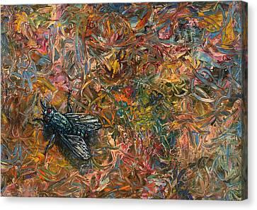 Like A Fly On Paint Canvas Print
