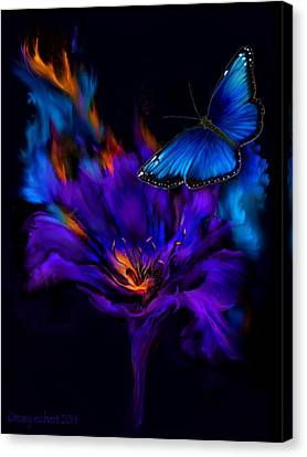 Like A Moth To A Flame Canvas Print