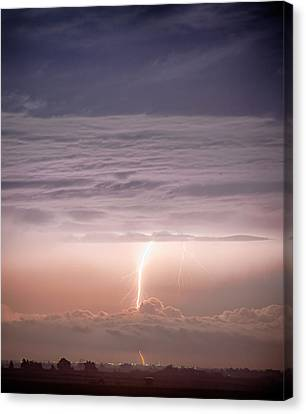 The Lightning Man Canvas Print - Like A Sci-fi Movie by James BO  Insogna