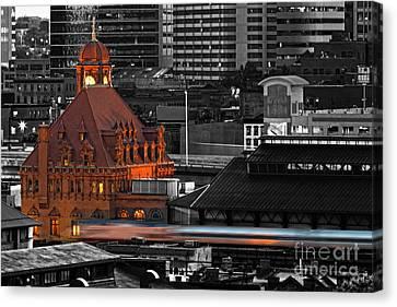 Train Station Canvas Print - Like A Speeding Bullet by Tim Wilson