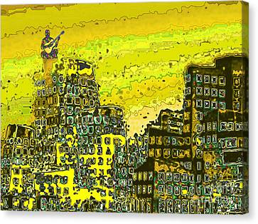 Like A Yellow Submarine Canvas Print by Mojo Mendiola