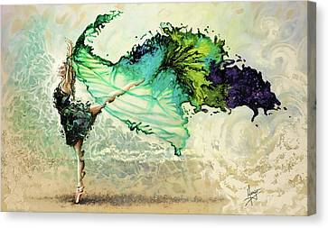 Ballet Dancers Canvas Print - Like Air I Will Raise by Karina Llergo