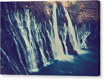 Falling Water Canvas Print - Like My Pounding Heart by Laurie Search