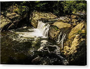 Lil Bald River Falls Canvas Print by Marilyn Carlyle Greiner