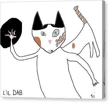 Lil Dab Canvas Print by Anita Dale Livaditis