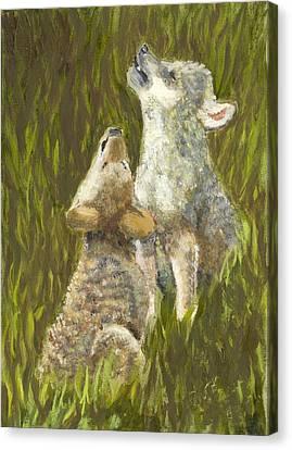 Li'l Howlers Canvas Print by Ruth Seal