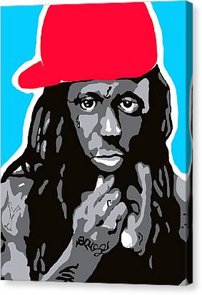 Lil Wayne Art Canvas Print - Lil Wayne by Ashley Greer
