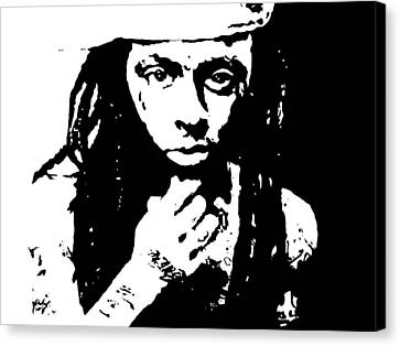 Canvas Print featuring the painting Lil Wayne  by Cherise Foster