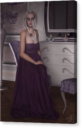 Dressing Room Canvas Print - Lilac Evening by Rachel Dudley