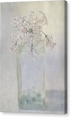 Canvas Print featuring the photograph Lilac Flower by Annie Snel