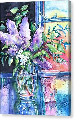 Canvas Print featuring the painting Lilac Light by Trudi Doyle