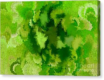 Lilac Of The Valley Green White Canvas Print by Holley Jacobs
