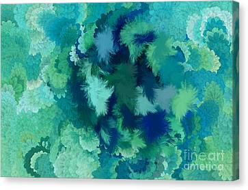 Lilac Of The Valley Teal Green Canvas Print by Holley Jacobs
