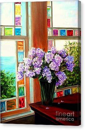 Lilac Reflections Canvas Print