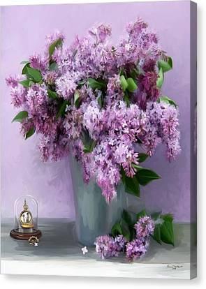 Lilac Spring Canvas Print by Yvonne Della-Moretta