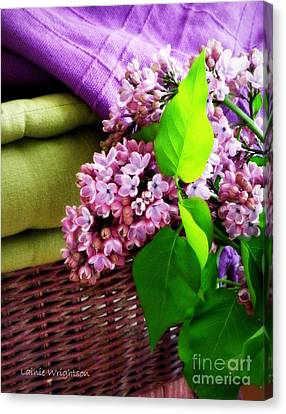 Lilac Still Life Canvas Print by Lainie Wrightson