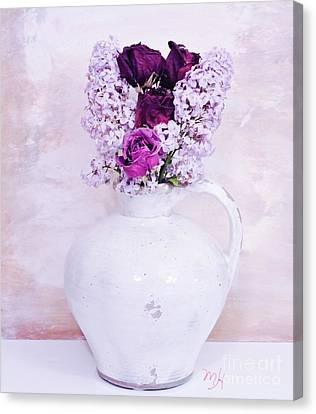 Lilacs And Roses Canvas Print by Marsha Heiken